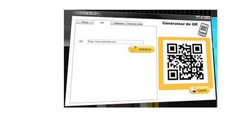 ecranqrcode Génération de QR codes