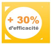 Augmentez votre efficacité de 30%