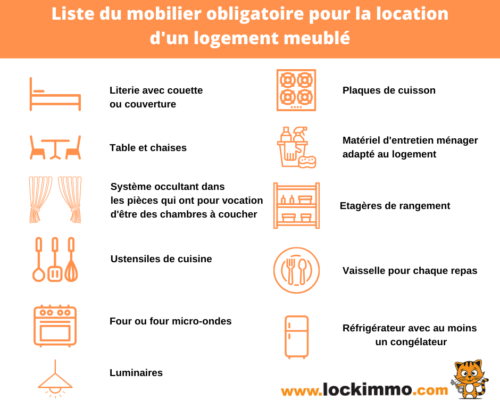 Liste du mobilier obligatoire dans un logement meublé 2021